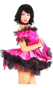 Shocking-Pink Satin French Maid http://www.thesissystore.com/maids-uniforms/shocking-pink-satin-french-maid